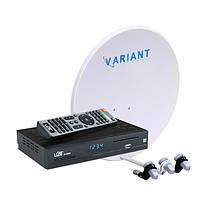 Спутниковый комплект + Интернет ТВ HD с Вай-Фай в комплекте