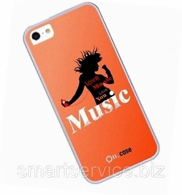 Чехол накладка Ou.case Music для Apple iPhone 5 / 5S