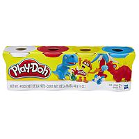 Play-Doh Набор из 4 баночек B5517_B6508 (белый,красный,желтый,синий)