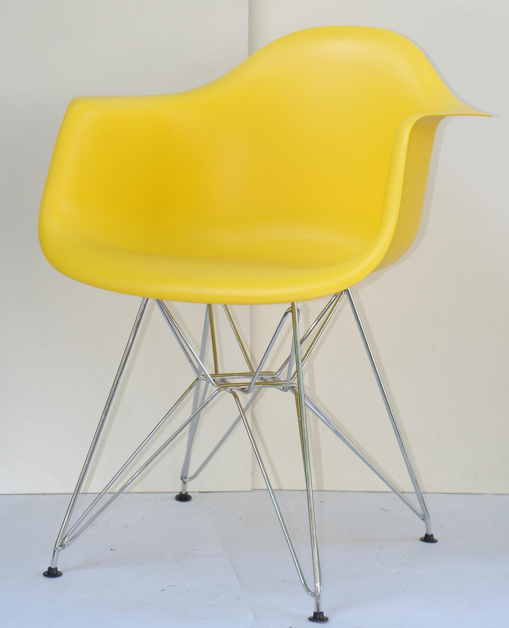 Крісло Leon Chrom, жовтий