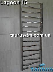 Гигантский полотенцесушитель Lagoon 15 / 1550x500, с перекладинами 20х10 в форме волны. Для больших комнат