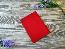 Обложка на паспорт красные цветы (полу матовая), фото 3