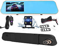 Видеорегистратор зеркало с камерой заднего вида DVR Vehicle Blackbox 138 Full HD (Оригинал)