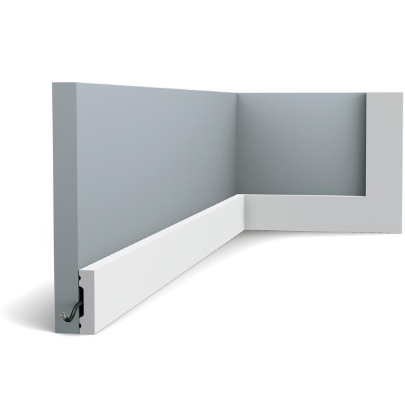 Плинтус напольный Orac Decor Axxent SX162,(4x1x200 см),лепной декор из дюрополимера.