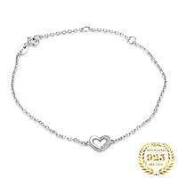 """Браслет из серебра 925 пробы с кристаллами циркония """"Silver Heart"""""""