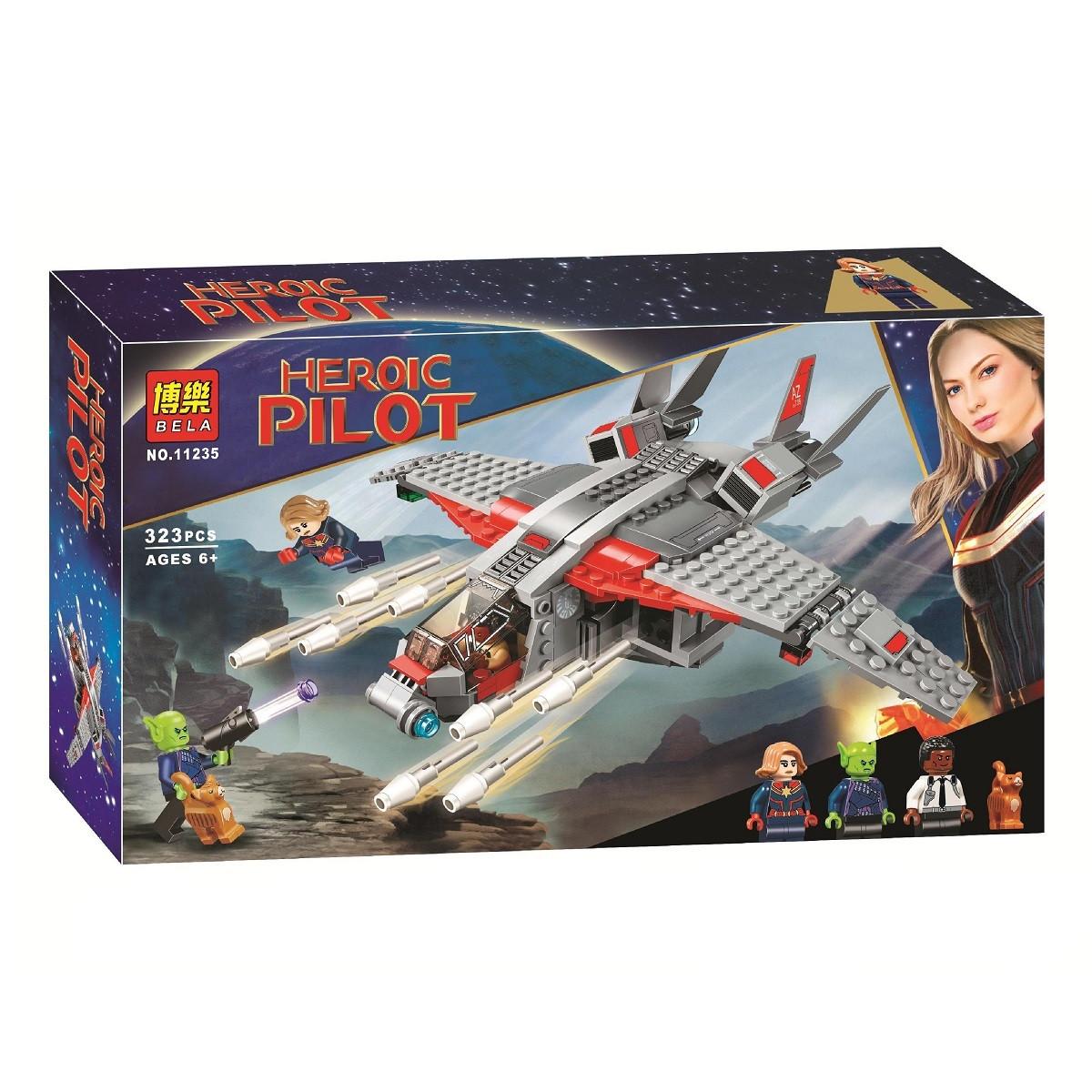 "Конструктор Super Heroes Bela 11235 ""Капитан Марвел и атака скруллов"", 323 дет"