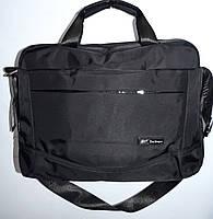 Текстильная черная сумка под ноутбук 36*25 см