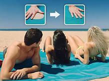 Анти-песок пляжная чудо-подстилка Originalsize Sand Free Mat 200*150 Голубая, фото 2