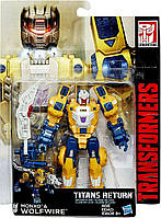 Трансформер Монксо и Вульфваер Возвращение Титанов - Monxo , WolfWire Deluxe, Hasbro, 14 см - 143224