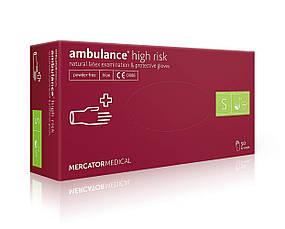 Резиновые перчатки неопудренные Ambulance high risk, фото 3