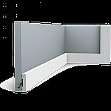 Плинтус напольный Orac Decor Axxent SX162F,(4x1x201 см),лепной декор из дюрополимера., фото 3