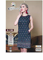 Летнее домашнее платье Cocoon синего цвета
