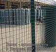 Сетка для ограждения в рулонах стальная оцинкованная с покрытием (зелёная), фото 2