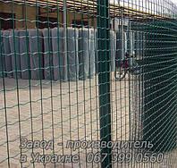 Сетка для ограждения в рулонах стальная оцинкованная с покрытием (зелёная)