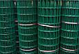 Сетка для ограждения в рулонах стальная оцинкованная с покрытием (зелёная), фото 4