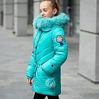 """Зимняя куртка для девочки """"Мисс"""" на флисовой подкладке., фото 1"""