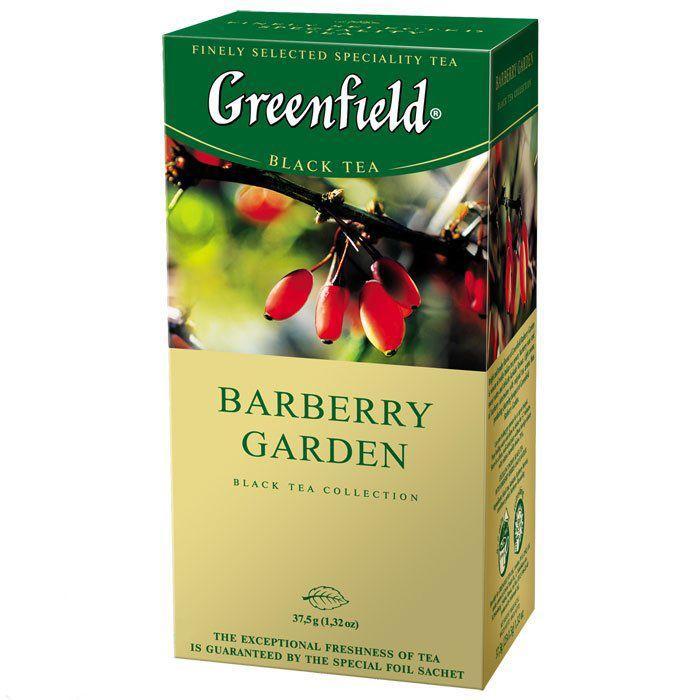 Пакетований чай Greenfield Barberry Garden 1,5 грам 25 пакетів (чорний з ягодами барбарису)
