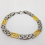 Мужской браслет для руки, Лисий хвост, позолота+под серебро, фото 2