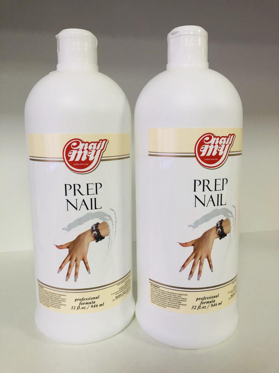 Средство для обезжиривания  и снятия липкого слоя My Nail Prep 2 в 1, 1 л