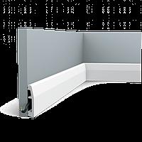 Плинтус напольный Orac Decor Axxent SX125,(6.9x1.4x200 см),лепной декор из дюрополимера.