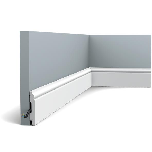 Плинтус напольный Orac Decor Axxent SX165,(6.9x1.1x200 см),лепной декор из дюрополимера.