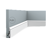 Плинтус напольный Orac Decor Axxent SX165,(6.9x1.1x200 см),лепной декор из дюрополимера., фото 3
