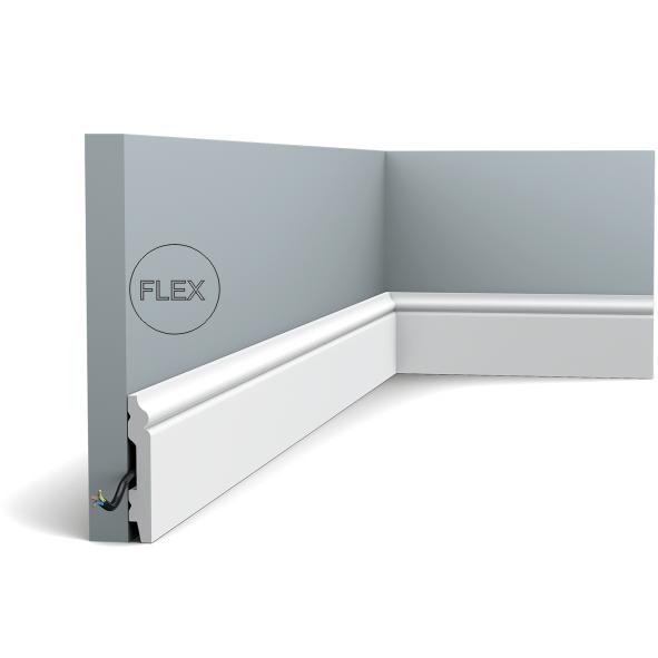 Плінтус підлоговий Orac Decor Axxent SX165F,(6.9x1.1x201 см),ліпний декор з дюрополімер.