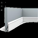 Плінтус підлоговий Orac Decor Axxent SX165F,(6.9x1.1x201 см),ліпний декор з дюрополімер., фото 3