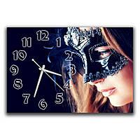 Настенные часы в спальню IdeaX Девушка в маске, 30х45 см