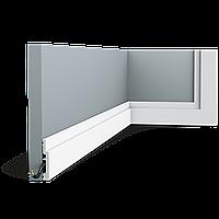 Плинтус напольный Orac Decor Axxent SX187,(7.5x1.2x200 см),лепной декор из дюрополимера.