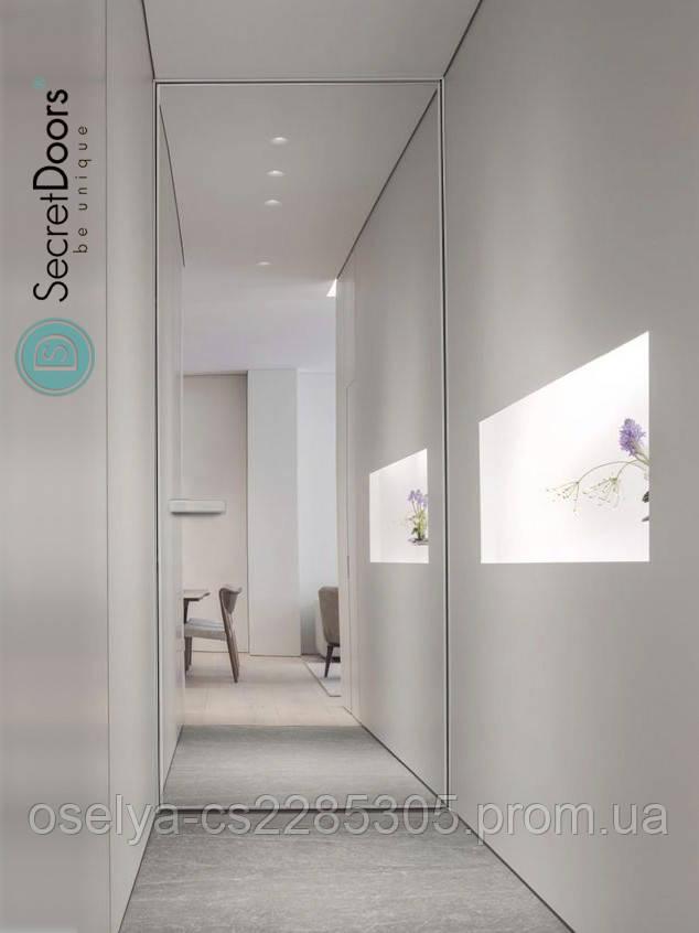 Дверь скрытого монтажа SecretDoors зеркало 800x2100х45 мм