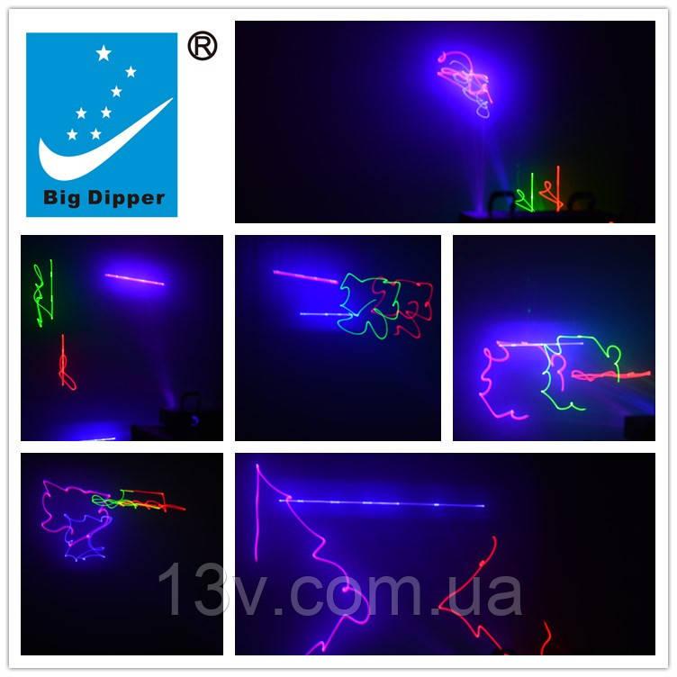 Лазерный проектор BIG DIPPER B102 RGB 4 линейный лазер видео