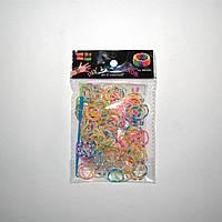 Резиночки для плетения Rainbow Loom 200шт. (разноцветные с белой прослойкой)