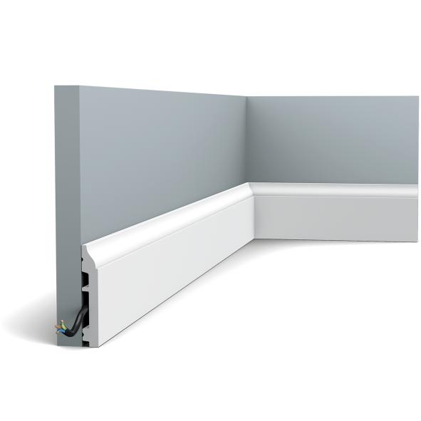 Плинтус напольный Orac Decor Axxent SX172,(8.5x1.4x200 см),лепной декор из дюрополимера.