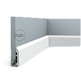 Плинтус напольный Orac Decor Axxent SX172,(8.5x1.4x200 см),лепной декор из дюрополимера., фото 3