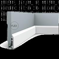 Плинтус напольный Orac Decor Axxent SX172F,(8.5x1.4x200 см),лепной декор из дюрополимера.