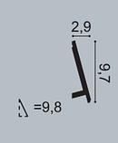 Плінтус підлоговий  Orac Decor Axxent SX179,(9.7x2.9x200 см),ліпний декор з дюрополімера., фото 2