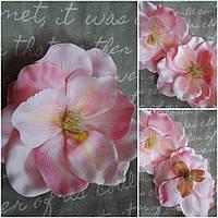 Розовая манголия из текстиля, диам. 18 см., 36/29 (цена за 1 шт. + 7 гр.)