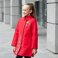 Элегантное кашемировое пальто для девочки «Сакура»