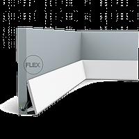 Плинтус напольный Orac Decor Axxent SX179F,(9.7x2.9x201 см),лепной декор из дюрополимера.