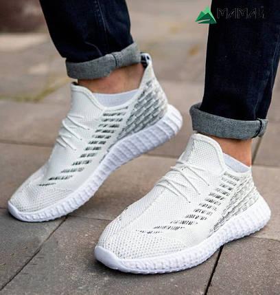 Кросівки чоловічі сітка білі, фото 2