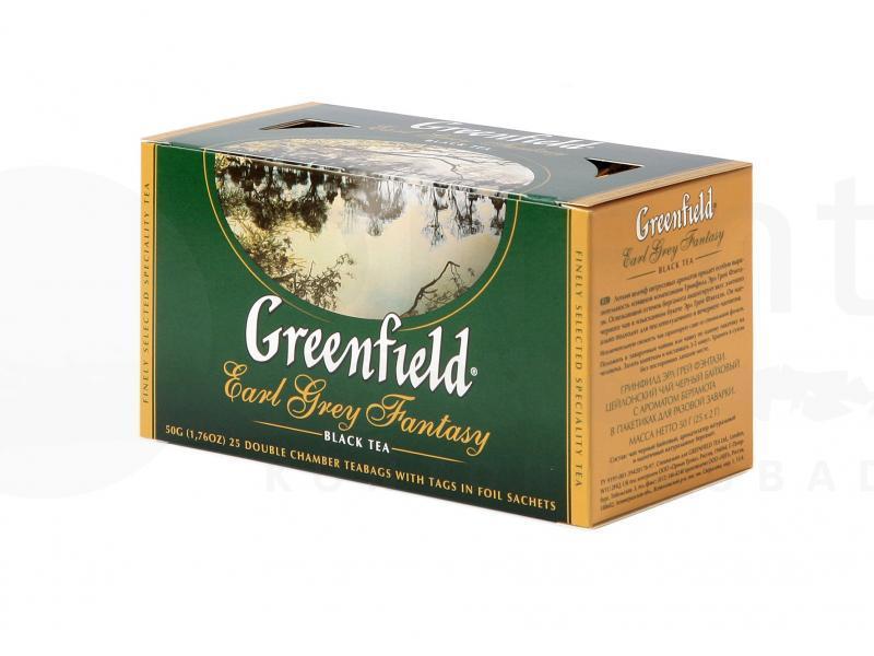 Пакетированный чай Greenfield Earl Grey Fantasy 1,5 грамм 25 пакетов (черный с бергамотом)