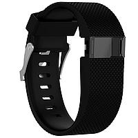 Силиконовый ремешок для фитнес браслета Fitbit Charge HR - Black S