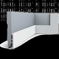 Плинтус напольный Orac Decor Axxent SX163,(10.2x1.3x200 см),лепной декор из дюрополимера.