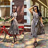 Женское платье с имитацией запаха в длине миди с поясом (в расцветках), фото 5
