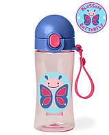 Спортивна пляшка, Skip Hop Zoo Lock-Top Sports Bottles, Butterfly! США.