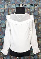 Школьная блузка Милашка, р. 134-152, молочный, фото 1