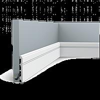 Плинтус напольный Orac Decor Axxent SX105,(10.8x1.3x200 см),лепной декор из дюрополимера.