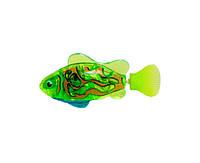 Интерактивная игрушка Robo fish Светящаяся рыбка-робот салатовая