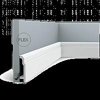 Плинтус напольный Orac Decor Axxent SX155F,(10.8x2.5x200 см),лепной декор из дюрополимера.